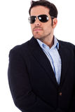 Young business man wearing sunglasses Royalty Free Stock Photo