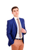Young business man on a white background Stock Image