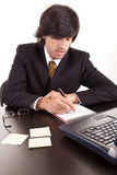 Young business man at work Royalty Free Stock Photo