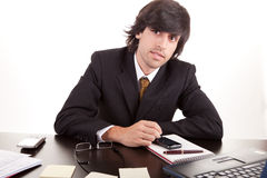 Young business man at work Stock Images