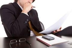 Young business man at work Stock Photos