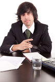 Young business man at work Royalty Free Stock Photography
