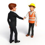 Young Business Man and worker with shake hand Stock Photos