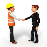 Young Business Man and worker with shake hand Royalty Free Stock Photo