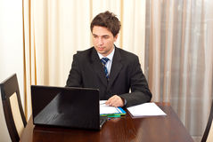 Young business man working Royalty Free Stock Photography