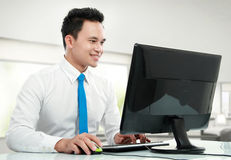 Young business man working Royalty Free Stock Photo