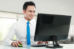 Young business man working Stock Images