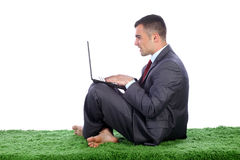 Young business man working Royalty Free Stock Photos