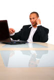 Young Business Man Working With Laptop Royalty Free Stock Photo