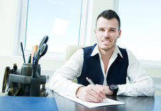 Young business man working office Stock Photos