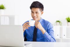 Young business man working in the  office Stock Photography