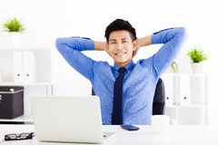 Young business man working in the  office Royalty Free Stock Photography