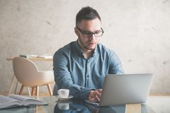 Young business man working on project royalty free stock photo