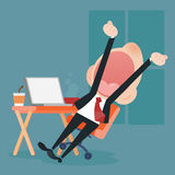 Young business man yawning Royalty Free Stock Images