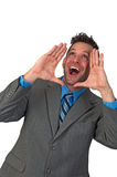 Man Yelling or Shouting Royalty Free Stock Image
