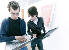 Young business men stock photo