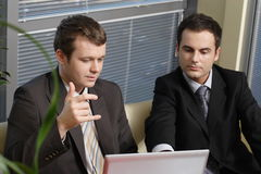 Young business men working with latop in office Royalty Free Stock Photo