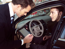 Young business men working royalty free stock photo