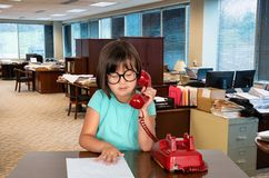 Young Business Office Girl, Worker Stock Photography