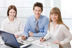 Young business people Stock Photography