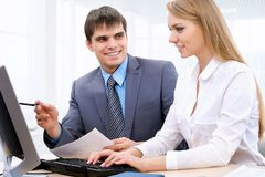 Young business people Royalty Free Stock Photos