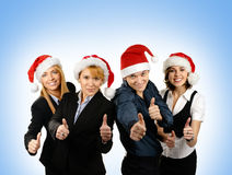 Young business people in Christmas style Royalty Free Stock Photo