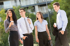 Young Business People On The Coffee Break Royalty Free Stock Image