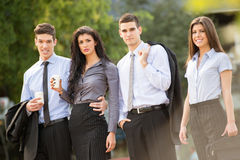 Young Business People On The Coffee Break Stock Photography