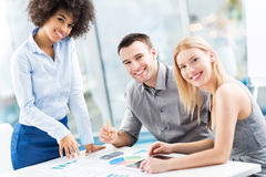 Young business people discussing in office Stock Image