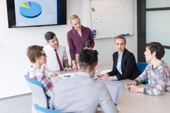 Young business people group on meeting at modern office Royalty Free Stock Photography