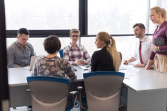 Young business people group on meeting at modern office Royalty Free Stock Photo