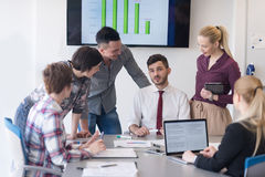 Young business people group on meeting at modern office Royalty Free Stock Image