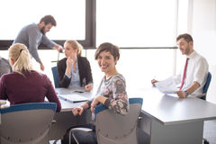 Young business people group on meeting at office Stock Photography