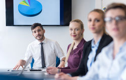 Young business people group on team meeting at modern office Stock Image
