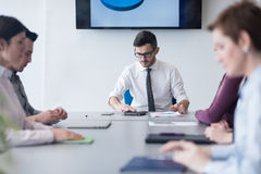 Young business people group on team meeting at modern office Royalty Free Stock Photos