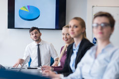 Young business people group on team meeting at modern office Royalty Free Stock Photo