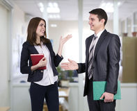 Young business people having discussion Stock Images