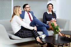 Business people having meeting in modern office Royalty Free Stock Photos