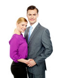 Young business people in love Stock Photo