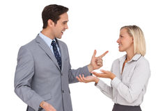 Young business people meet each other Stock Photo