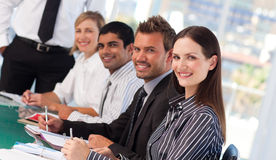 Young business people in a meeting Royalty Free Stock Image