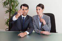 Young business people negotiating Royalty Free Stock Photo