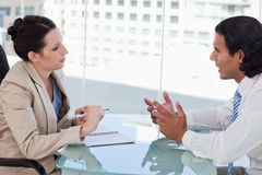 Young business people negotiating Stock Photography