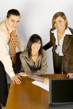Young Business People at the office stock images