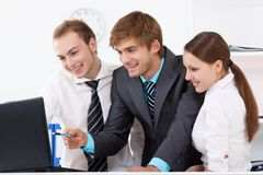 Young business people in office Royalty Free Stock Photo