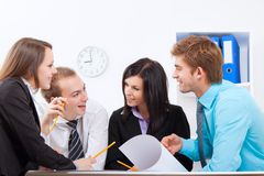 Young business people in office Stock Image
