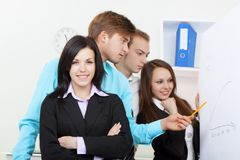 Young business people in office Royalty Free Stock Images