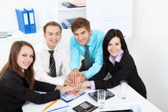 Young business people in office Royalty Free Stock Photography