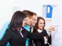 Young business people in office Royalty Free Stock Image