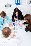 Young business people in office Stock Photo